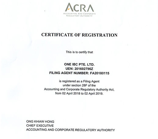 One IBC Pte. Ltd - Owning License Corporate Services Provider  in Singapore